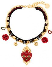 Dolce & Gabbana - Choker 'Sacred Heart' - women - Polyester/Crystal/Brass/Resin - OS - BLACK