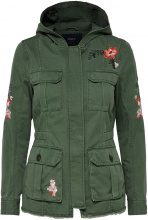 ONLY Embroidery Parka Coat Women Green