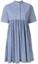Woolrich - Vestito a righe - women - Cotton/Polyamide/Spandex/Elastane - L - BLUE