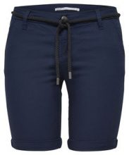 ONLY Solid Chino Shorts Women Blue