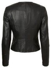VERO MODA Short Leather Jacket Women Black