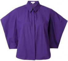 Delpozo - Camicia a manica ampia - women - Cotton - 42 - PINK & PURPLE