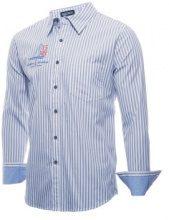 Camicia a righe con taschino