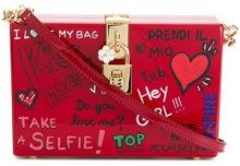 Dolce & Gabbana - Clutch con motivo murales - women - PVC/Leather - One Size - RED