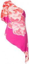 Josie Natori - peoony georgette waterfall blouse - women - Polyester - XS, S, M, L, XL - Rosa & viola