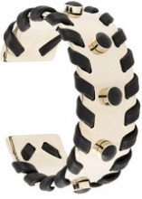 - Tod's - cuff bracelet - women - Calf Leather/Metal (Other) - Taglia Unica - Metallizzato