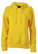 James & Nicholson Sweatshirt Hooded, Felpa Donna, Giallo (Sun Yellow), Small