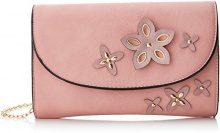 SwankySwans Lisa Smart Faux Leather - Pochette da giorno Donna, Rosa (Pink), 5x16x25 cm (W x H x L)