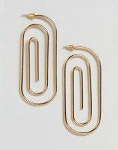 ASOS - Orecchini in metallo a spirale ovali - Oro