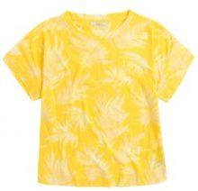T-shirt con scollo rotondo fantasia a fiori, maniche corte