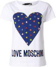 Love Moschino - T-shirt con logo - women - Cotton/Spandex/Elastane - 40, 42, 38, 44 - WHITE