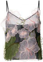 Pinko - Blusa con ricamo floreale - women - Polyamide/Polyester - 44 - BLACK