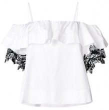 Pinko - Blusa con spalle scoperte - women - Cotton - 40 - WHITE