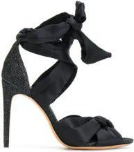 Alexandre Birman - Sandali con fiocco - women - Silk/Leather/Polyamide - 36.5, 37, 37.5, 38, 39, 41 - BLACK