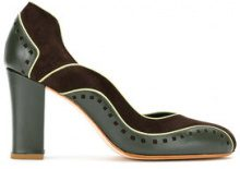 - Sarah Chofakian - color blocked pumps - women - pelle di capra - 37, 38, 35 - di colore verde