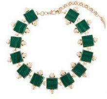 Eshvi - Collana 'Lava' - women - Resin/Gold Plated Metal - OS - GREEN