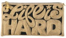 Anne Grand Clement - Clutch ricamata - women - Silk - OS - BLACK