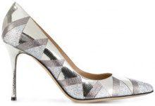 Sergio Rossi - Pumps a specchio - women - Leather/Metallic Fibre - 36, 37, 37.5, 38, 41 - Metallizzato