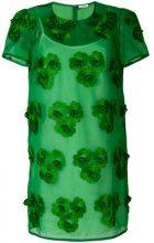 P.A.R.O.S.H. - Vestito con fiori ricamati - women - Cotton/Polyester - M, L, XL - GREEN