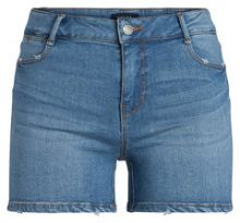 PIECES Mid Waist Skinny Fit Shorts Women Blue
