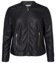 JUNAROSE Leather-look Jacket Women Black