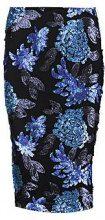 Emy Sequin Floral Midi Skirt