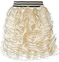 Alexander McQueen - ruffled mini skirt - women - Viscose/Polyester/Polyamide/Silk - S - NUDE & NEUTRALS