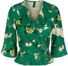 Y.A.S Floral Wrap 3/4 Sleeved Blouse Women Green