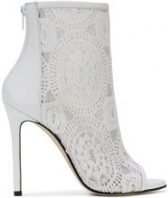 Marc Ellis - Stivaletti ricamati - women - Leather/Polyamide - 36, 37, 38, 39 - WHITE