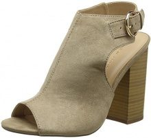 New Look Oaking, Scarpe col Tacco Punta Aperta Donna, Marrone (Light Brown), 36 EU