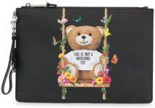 Moschino - Toy Bear clutch - women - Polyurethane - OS - Nero