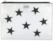 Stella McCartney - metallic Star clutch - women - Polyester/Polyurethane - One Size - METALLIC