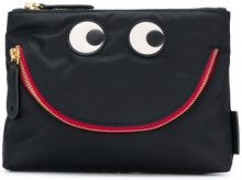 Anya Hindmarch - Happy Eyes pouch - women - Nylon/Leather - One Size - Nero