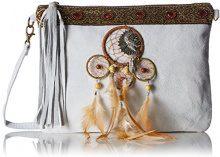 Chicca Borse 1525, Borsa a Spalla Donna, Bianco, 30x22x2 cm (W x H x L)