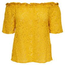 ONLY Off Shoulder Short Sleeved Top Women Yellow