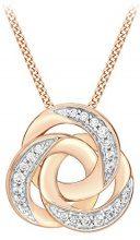 Carissima Gold Collana Donna 9 carati oro rosa trasparente Ossido di zirconio