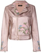 Twin-Set - floral embroidered jacket - women - Polyester/Spandex/Elastane/Viscose/Poliuretano Resina - 42, 44, 46 - PINK & PURPLE
