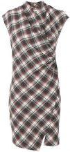 Isabel Marant Étoile - Vestito 'Pisa' asimmetrico - women - Cotton/Polyamide/Wool - 40 - RED
