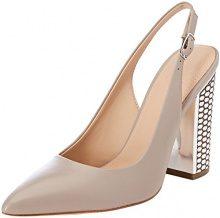 Guess Footwear Dress Sling Back, Scarpe col Tacco Punta Chiusa Donna, Grigio (Taupe), 37 EU
