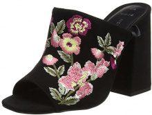 New LookWide Foot Sash - Scarpe Peep-Toe Donna, Nero (Black (Black)), 39