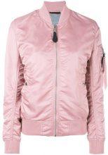 Alpha Industries - arm pocket bomber jacket - women - Nylon - S, M, L - PINK & PURPLE