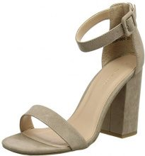 New Look Riches Block Heal, Scarpe con Cinturino Alla Caviglia Donna, Brown (Light Brown 21), 39 EU