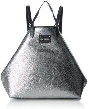 Love Moschino Borsa Glitters Pu Argento - Borse a zainetto Donna, (Silver), 15x35x45 cm (B x H T)