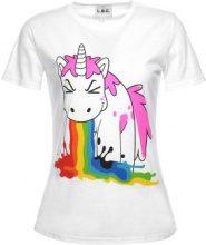 T-shirt con unicorno & arcobaleno