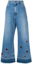 - Vivetta - Jeans con fori a cuore - women - Cotone - 38, 44, 40, 42 - Blu