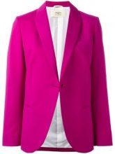 Ports 1961 - single breasted jacket - women - Silk/Cotton/Viscose/Wool - 40 - PINK & PURPLE