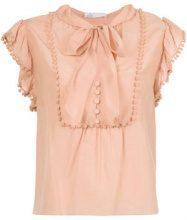 Nk - drawstring blouse - women - Cotone/Silk - 34 - Rosa & viola