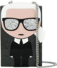 Karl Lagerfeld - Ikonik Karl Minaudiere clutch - women - Acrylic - One Size - BLACK