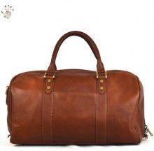 Borsa da viaggio Dream Leather Bags Made In Italy  Borsa Viaggio In Pelle Colore Marrone - Pelletteria Toscana Made