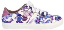 Sneakers floreali in similpelle